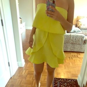 DO+BE yellow structured dress 🥰💛